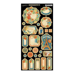 Graphic 45 - World's Fair Chipboard Die-Cuts 6Inch X12inch  Sheet Journaling