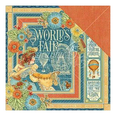 Graphic 45 - World's Fair Double-Sided Cardstock 12Inch X12inch  Graphic 45 - World's Fair