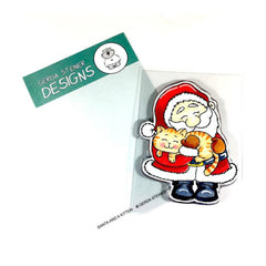 Gerda Steiner - Santa And A Kitten 3x4 inch Clear Stamp Set