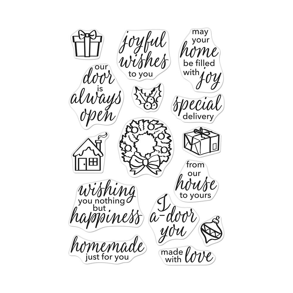 Hero Arts Clear Stamps 4in X 6in - May Your Home Be Filled With Joy