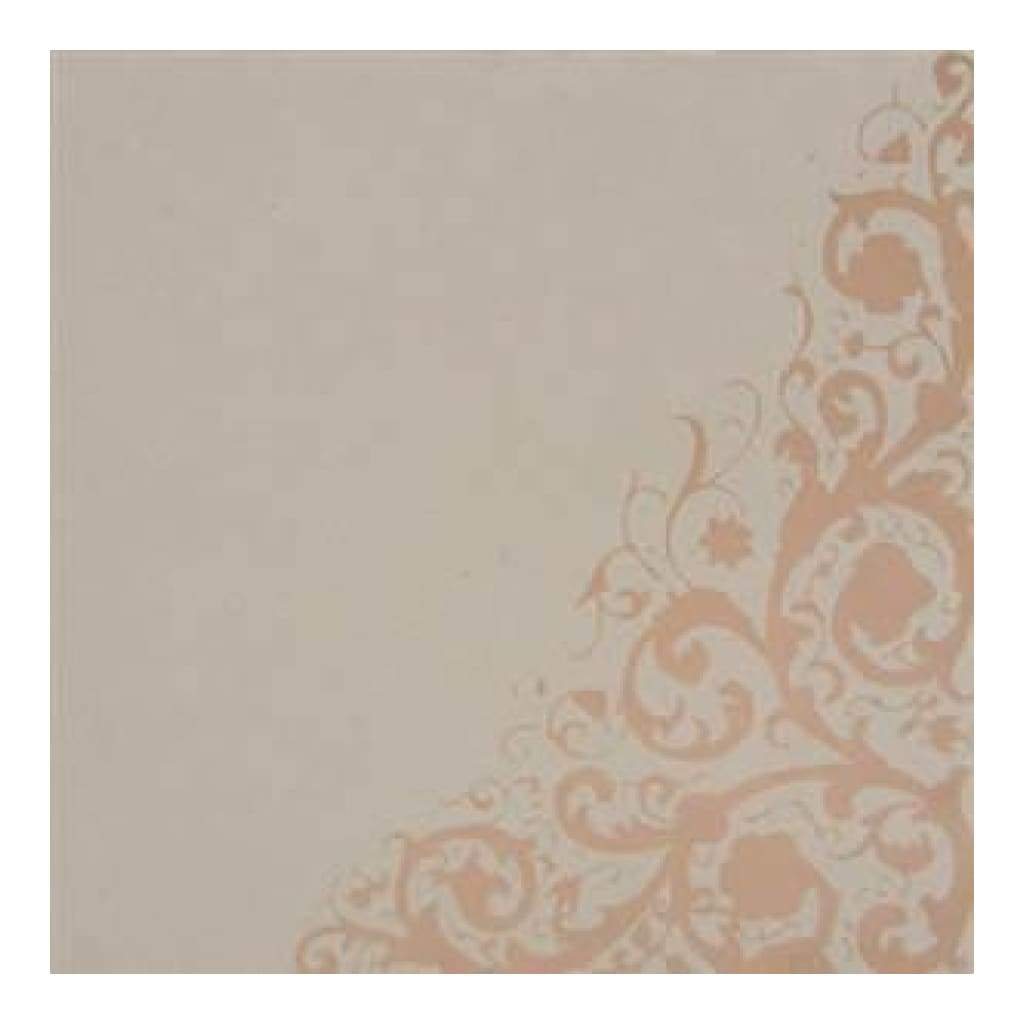 Hambly Screen Prints - 12X12 Screen Printed Paper - Corner Vine - Metallic Copper On Kraft (Pack Of 5)