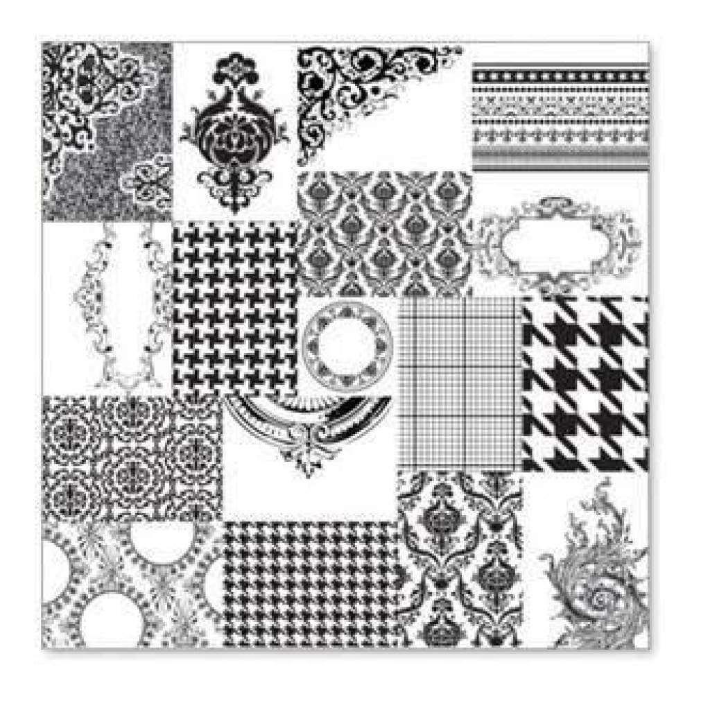 Hambly Screen Prints - Atc Patchwork Overlay - Black (Pack Of 5)