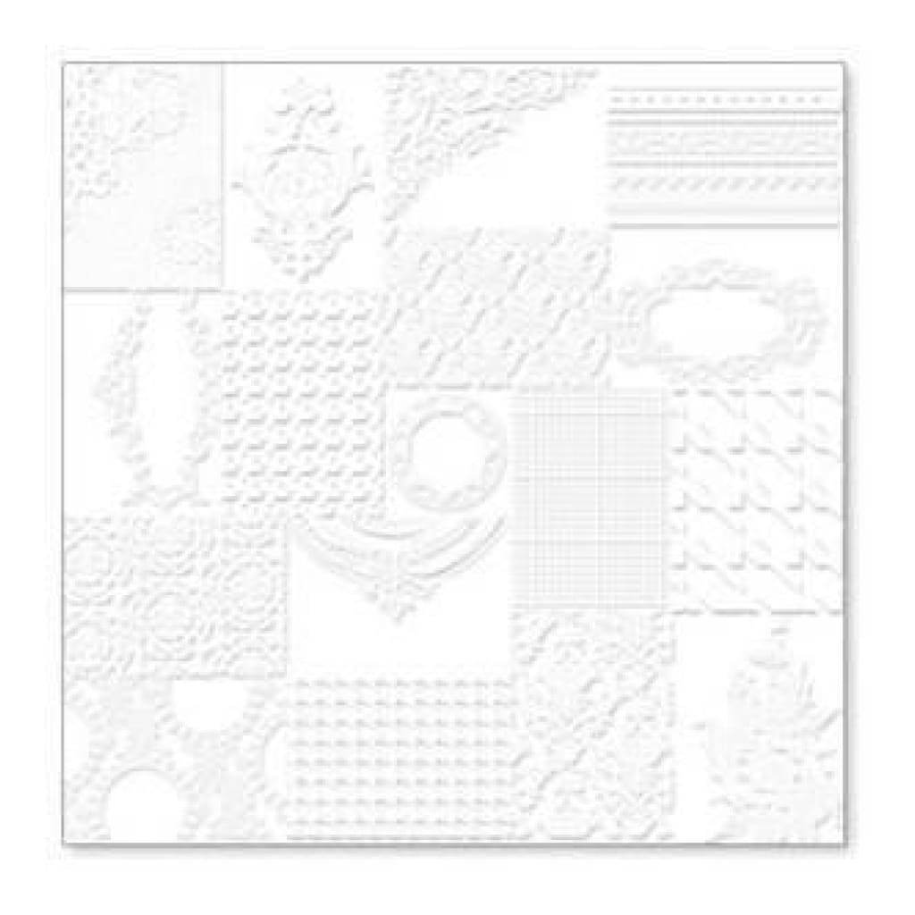 Hambly Screen Prints - Atc Patchwork Overlay - White (Pack Of 5)