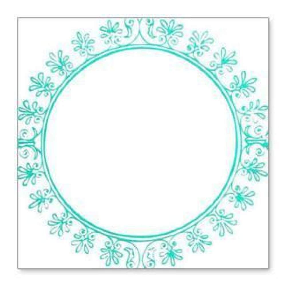 Hambly Screen Prints - Big Vintage Circle Overlay - Teal Blue (Pack Of 5)