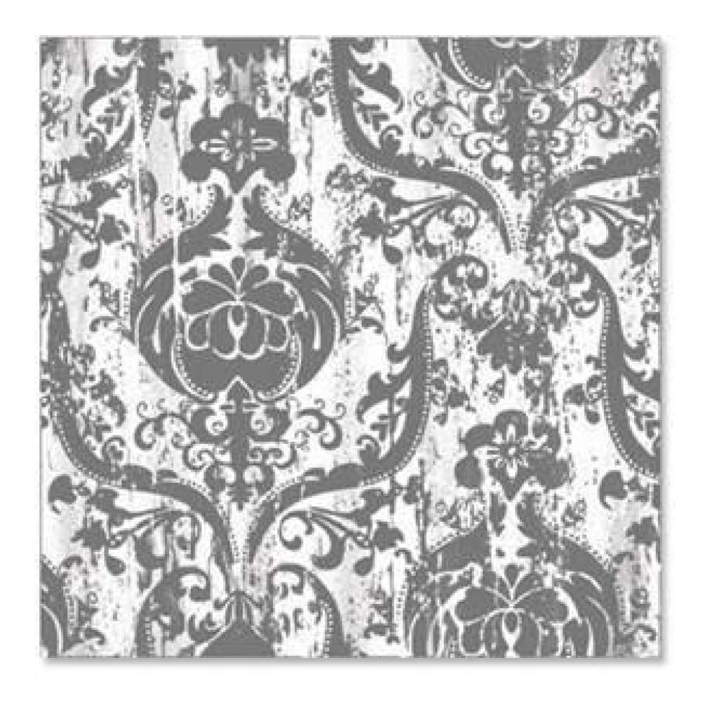 Hambly Screen Prints - Brocade Blossom Overlay - Grey (Pack Of 5)