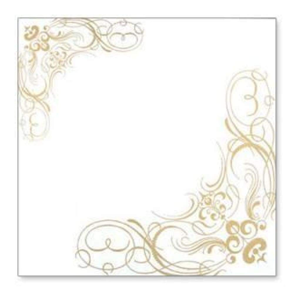 Hambly Screen Prints - Corner Flourishes Overlay - Metallic Gold (Pack Of 5)