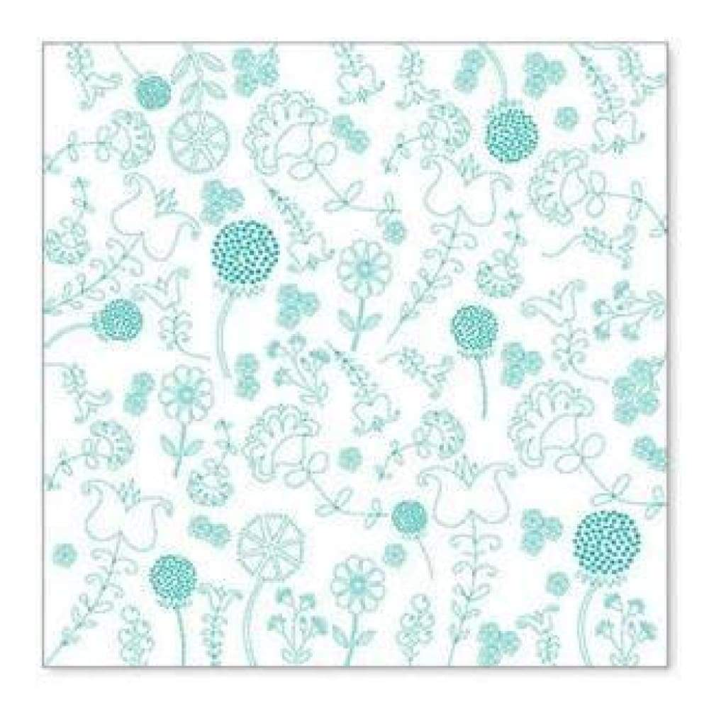 Hambly Screen Prints - Embroidery Overlay - Teal Blue (Pack Of 5)