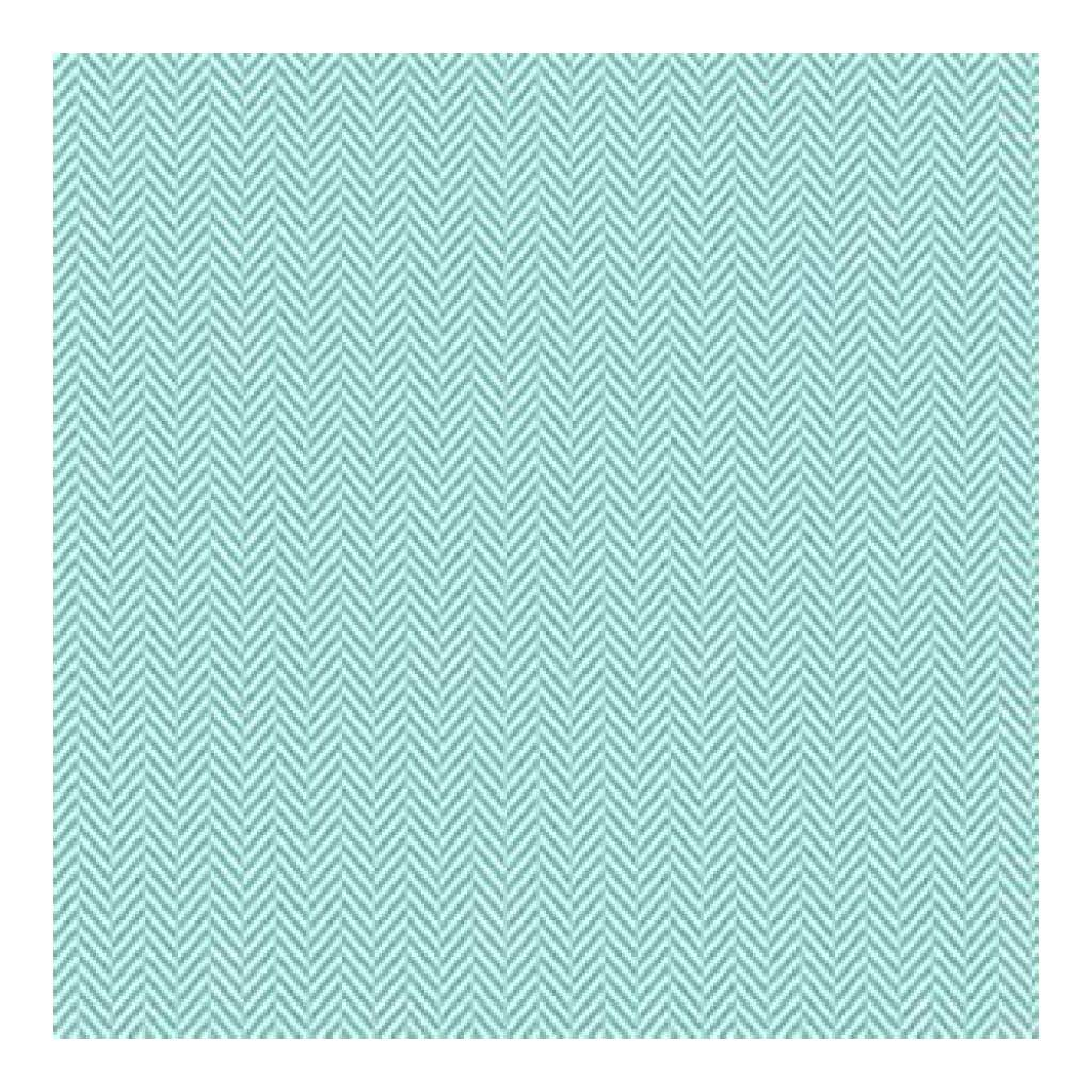 Hambly Screen Prints - Herringbone Overlay - Antique Teal Blue (Pack Of 5)
