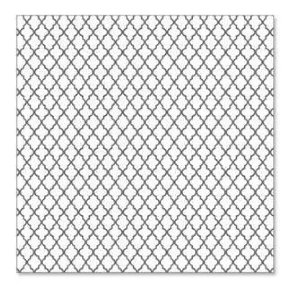 Hambly Screen Prints - Lattice Overlay - Grey (Pack Of 5)