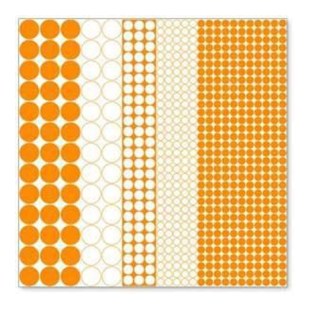 Hambly Screen Prints - Mod Circles Overlay - Orange (Pack Of 5)