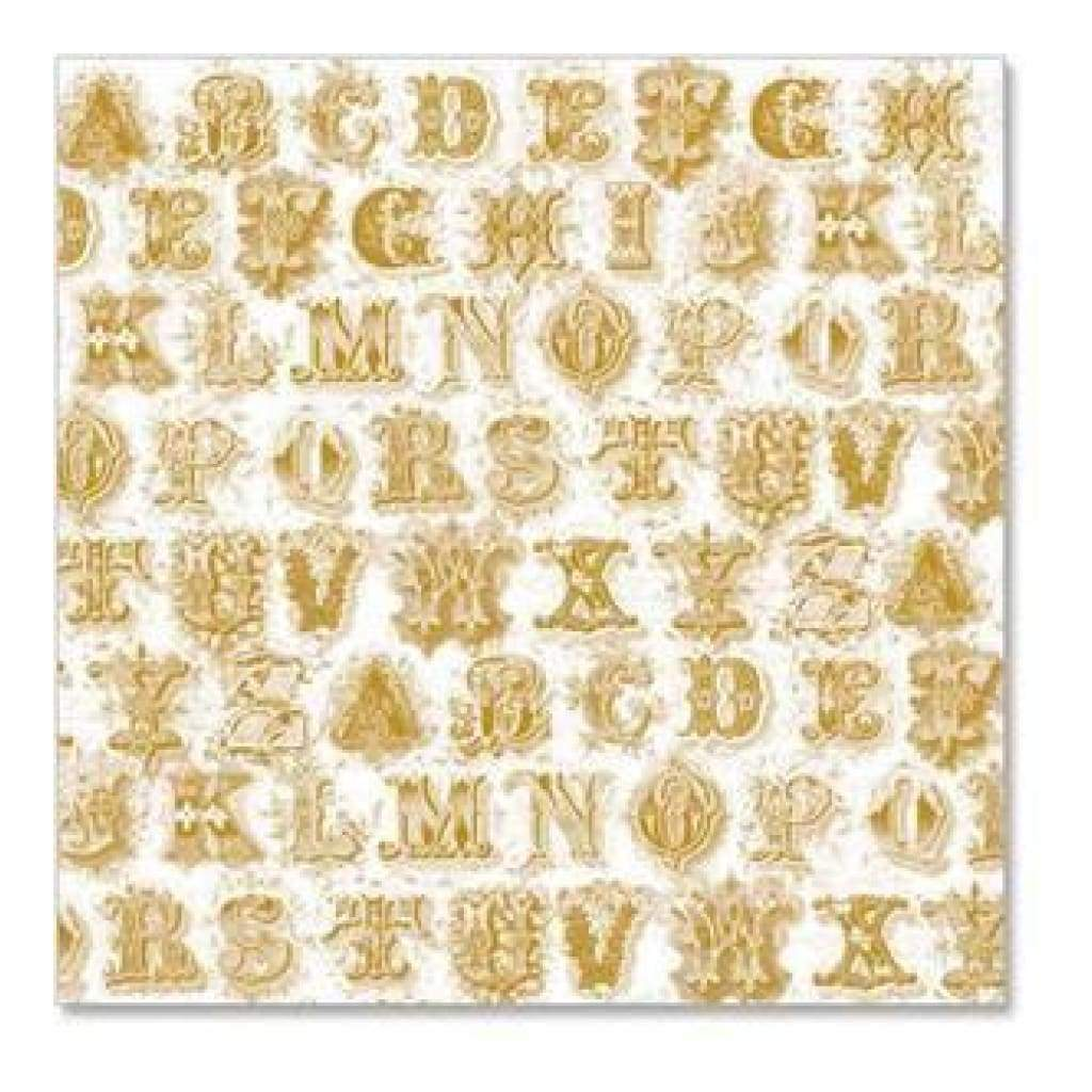 Hambly Screen Prints - Printer's Type Overlay - Metallic Gold (Pack Of 5)