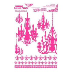 Hambly Screen Prints - Rub-Ons Chandeliers - Pink