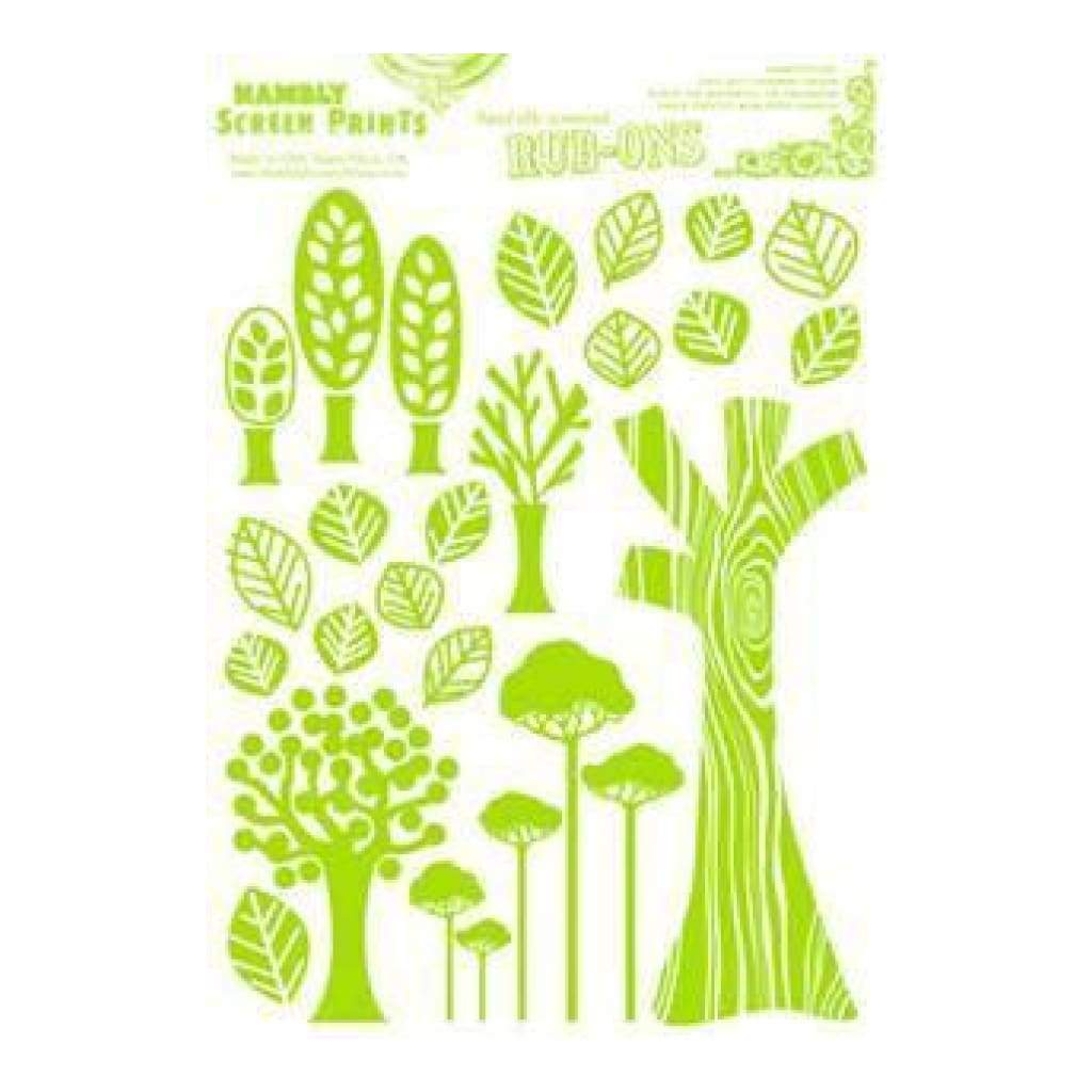 Hambly Screen Prints - Rub-Ons Mod Trees - Lime Green