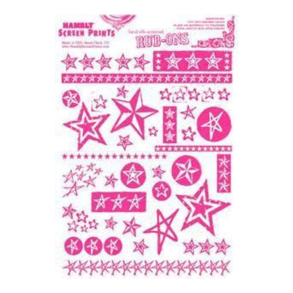 Hambly Screen Prints - Rub-Ons Stars - Pink