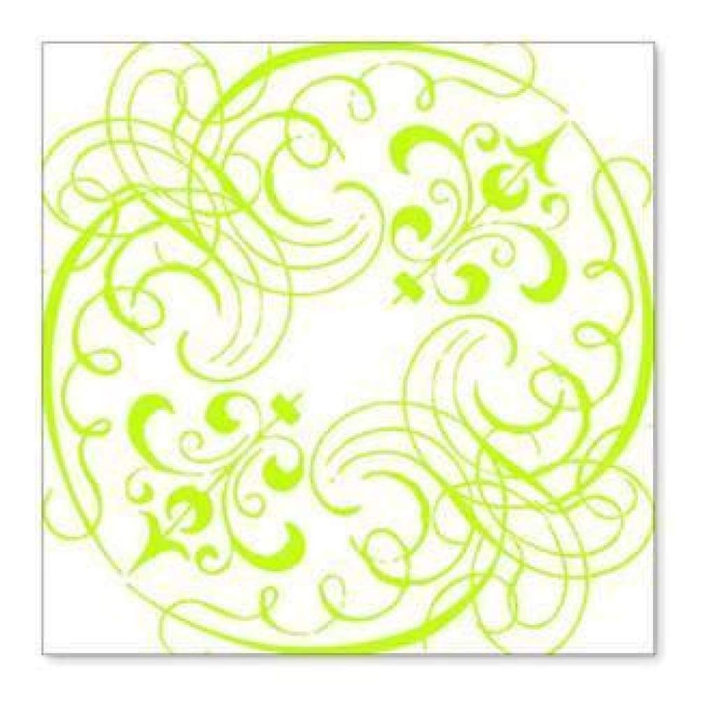 Hambly Screen Prints - Swashes & Swirls Overlay - Lime Green (Pack Of 5)