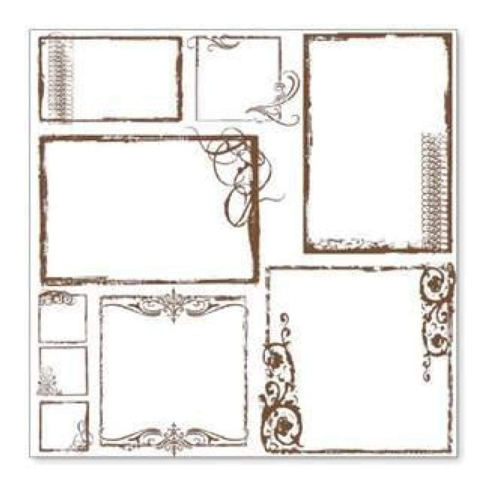 Hambly Screen Prints - Urban Chic Frames Overlay - Brown (Pack Of 5)