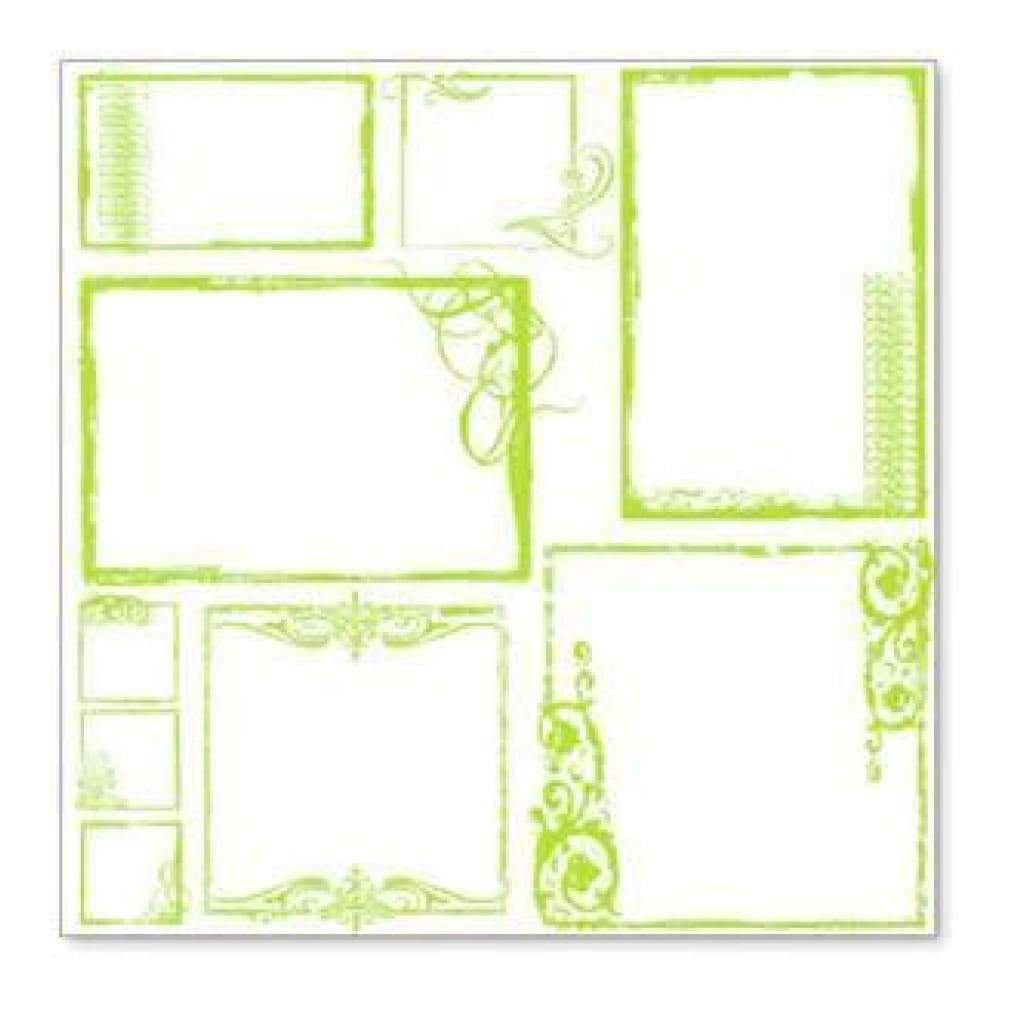 Hambly Screen Prints - Urban Chic Frames Overlay - Lime Green (Pack Of 5)