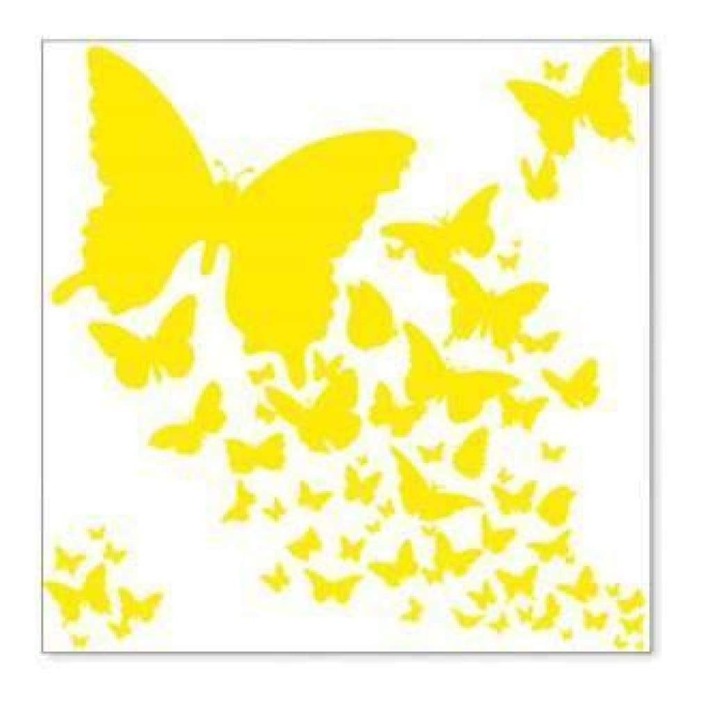 Hambly Screen Prints - Wings Overlay - Yellow (Pack Of 5)