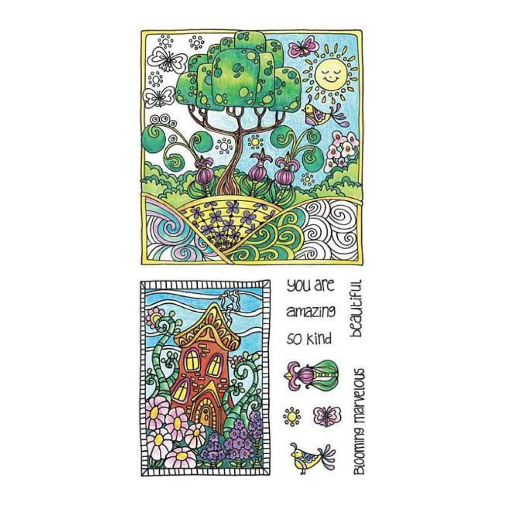 Hampton Art  - Colour Me Clear Stamps 4Inchx7.75Inch Amazing