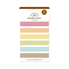 Doodlebug - Happy Harvest Doodle Twine Assortment Pack 60 Yards - Fall - 6 Colors/10 Yards Each