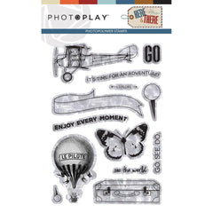 PhotoPlay Photopolymer Stamp Here & There