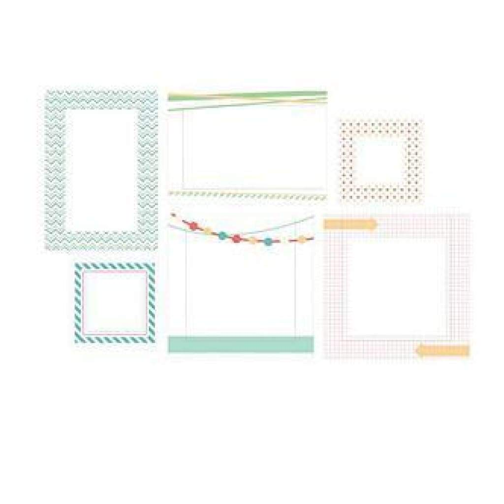 Hazel & Ruby Pic Pockets Die-Cut Cardstock Embellishments 6 Pack Too Cool