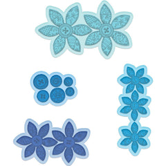 Heartfelt Creations Cut & Emboss Dies Buttons & Blooms 1.25inch To 4inch