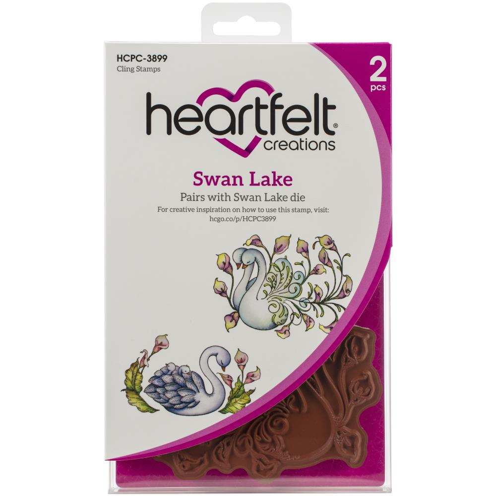 Heartfelt Creations Cling Rubber Stamp Set Swan Lake