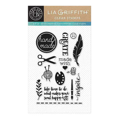 Hear Arts Clear Stamps By Lia 4Inch X6inch Sheet Create