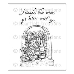 Heartfelt Creations Cling Rubber Stamp Set 5 Inch X6.5 Inch Italiana Riviera