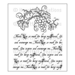 Heartfelt Creations Cling Rubber Stamp Set 5 Inch X6.5 Inch Italiana Script