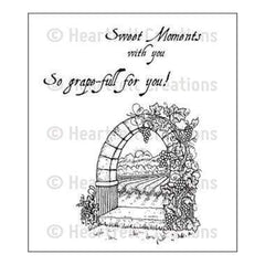 Heartfelt Creations Cling Rubber Stamp Set 5 Inch X6.5 Inch Riviera Gateway
