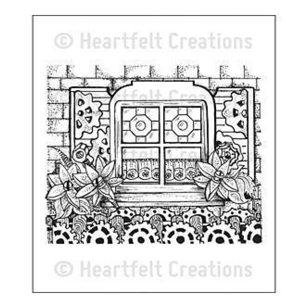 Heartfelt Creations Cling Rubber Stamp Set 5In.X6.5In. All Geared Up