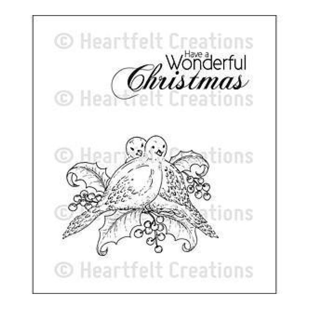 Heartfelt Creations Cling Rubber Stamp Set 5In X6.5In Dove Of Peace