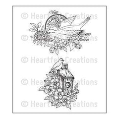 Heartfelt Creations Cling Rubber Stamp Set 5In.X6.5In. Home Sweet Home