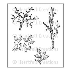 Heartfelt Creations Cling Rubber Stamp Set 5In.X6.5In. Leafy Branch