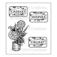Heartfelt Creations Cling Rubber Stamp Set 5In.X6.5In. Plates & Gears