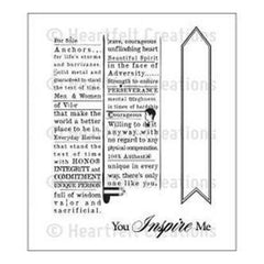 Heartfelt Creations Cling Rubber Stamp Set 5Inch X6.5Inch  Everyday Hero Newsprint