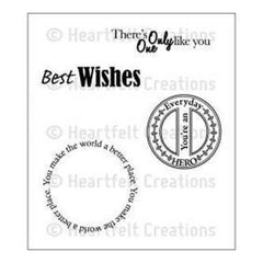Heartfelt Creations Cling Rubber Stamp Set 5Inch X6.5Inch  Everyday Hero