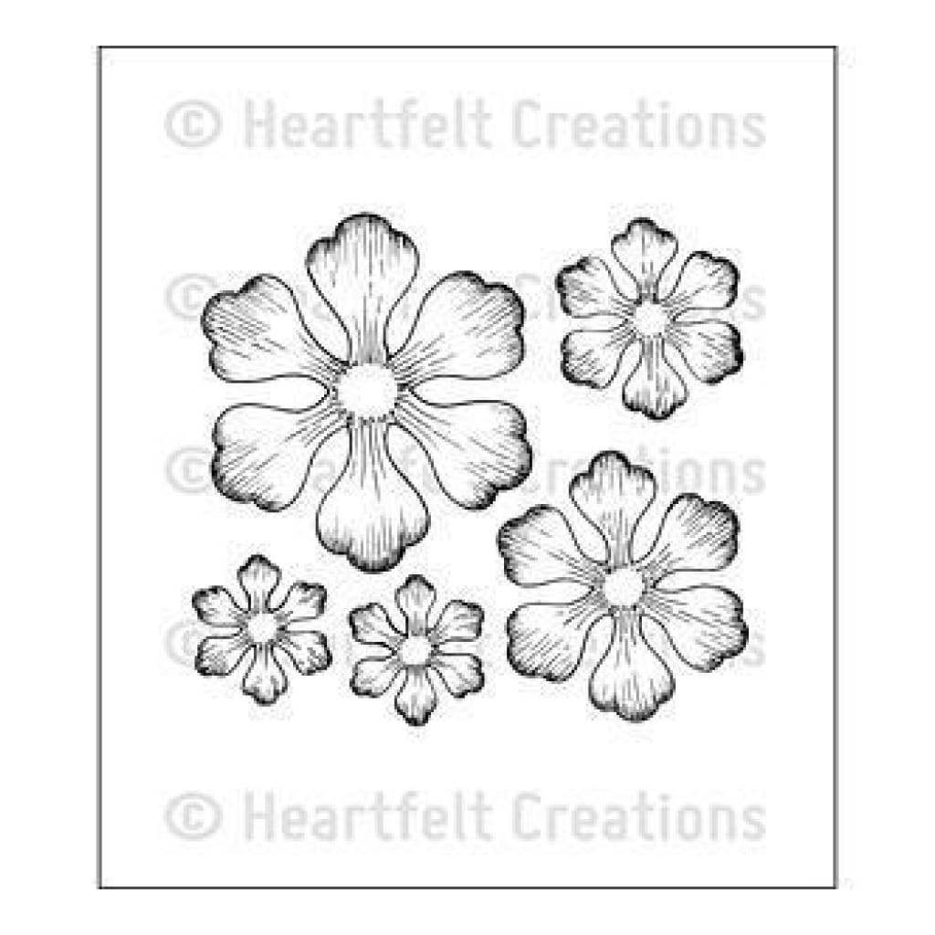 Heartfelt Creations Cling Rubber Stamp Set 5X6.5 Inches Arianna Blooms