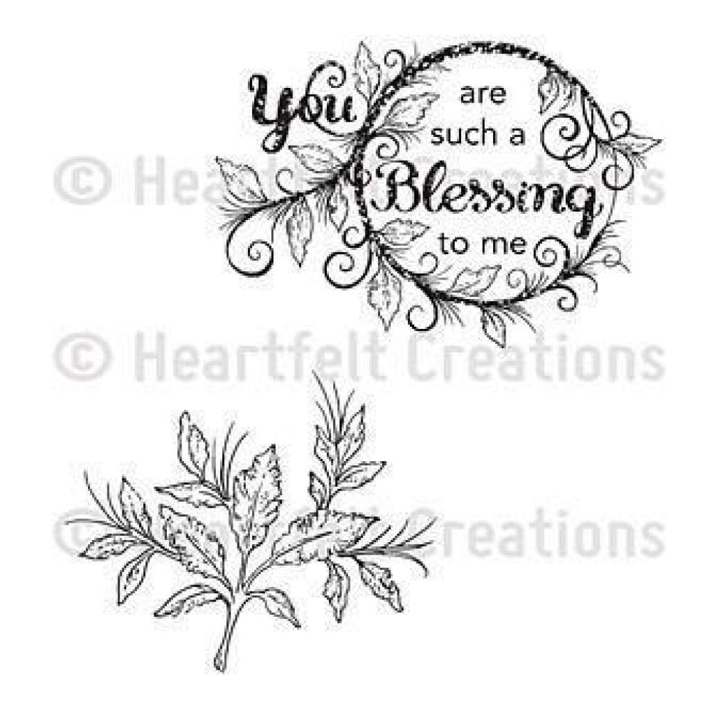 Heartfelt Creations Cling Rubber Stamp Set 5X6.5 Inches - Blessing To Me