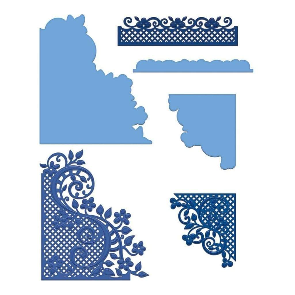 Heartfelt Creations Cut & Emboss Dies - Fleur Borders & Pockets .15 inch To 5.75 inch