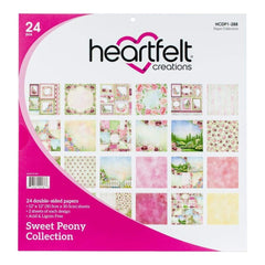 Heartfelt Creations Double-Sided Paper Pad 12 inch X12 inch 24 pack - Sweet Peony, 12 Designs/2 Each