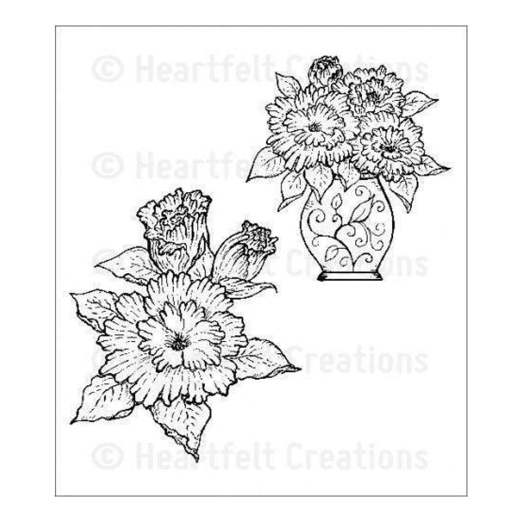 Heartfelt Creations Majestic Morning Stamps - Majestic Morning Bouquet