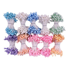 Heartfelt Creations Pearl Stamens Medium 5mmx2.25 inch 10 pack Pastel