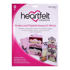 Heartfelt Creations Pocket & Flipfold Inserts - F-White