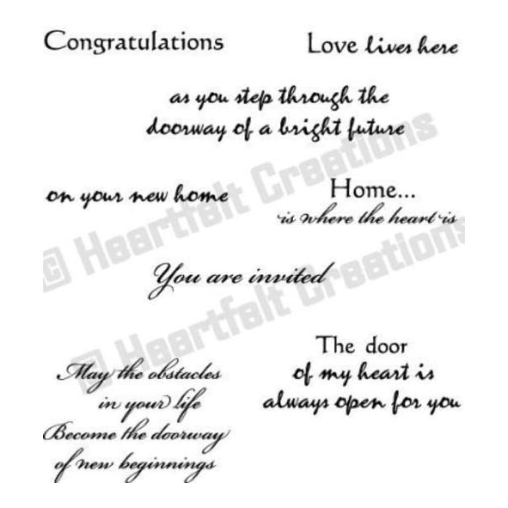 Heartfelt Creations Stamp Set - Door To My Heart