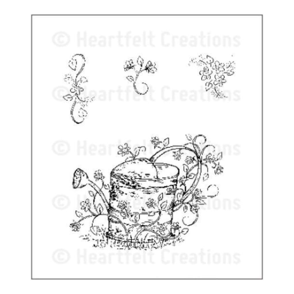 Heartfelt Creations Stamp Set - Vintage Watering Can