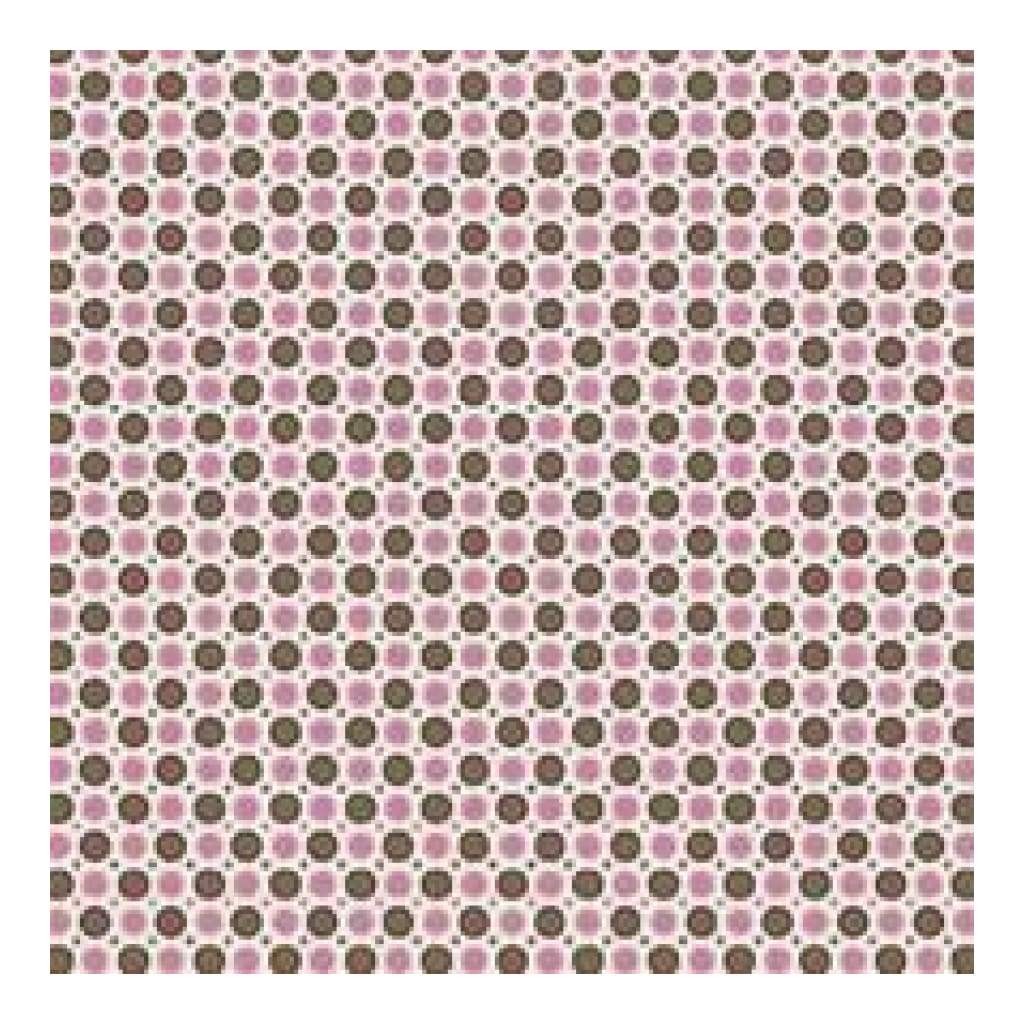Heidi Grace - Cherry - Dots With Flocking 12X12 Paper (Pack Of 5)