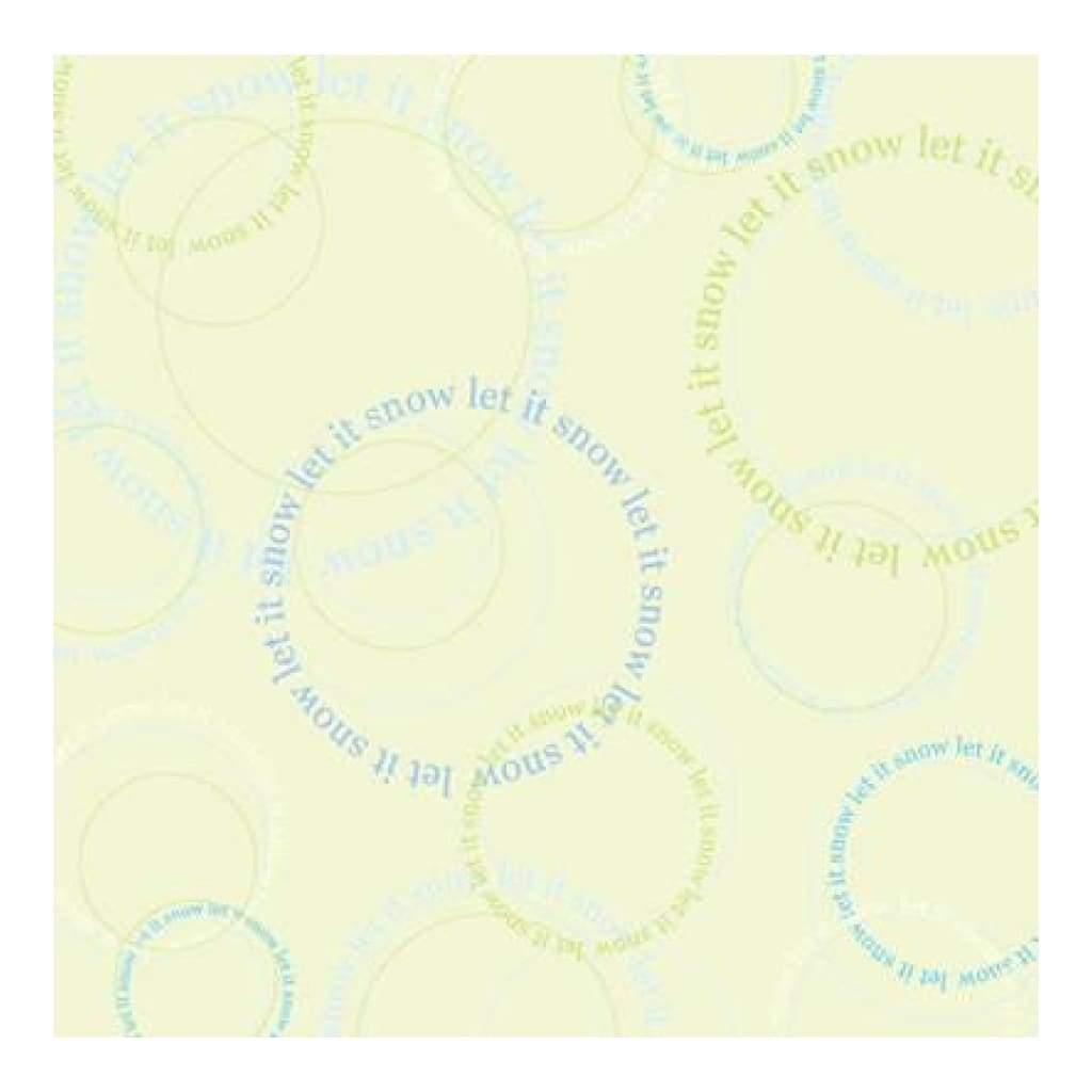 Heidi Grace - Let It Snow - Shimmer Circles 12X12 Paper (Pack Of 5)